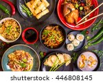 assorted chinese food set.... | Shutterstock . vector #446808145