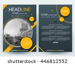 abstract vector modern flyers... | Shutterstock .eps vector #446812552