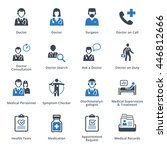 medical services icons set 3  ... | Shutterstock .eps vector #446812666