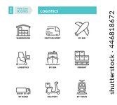flat symbols about logistics.... | Shutterstock .eps vector #446818672