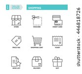 flat symbols about shopping.... | Shutterstock .eps vector #446818726