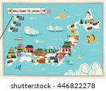 Japan Travel Map Design With...