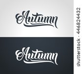 Autumn Word Hand Lettering....