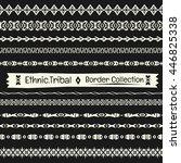 seamless abstract vector tribal ... | Shutterstock .eps vector #446825338