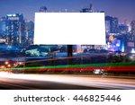 double exposure of blank... | Shutterstock . vector #446825446