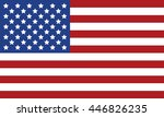usa flag vector image | Shutterstock .eps vector #446826235