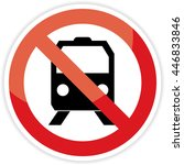 train   railraod traffic train... | Shutterstock .eps vector #446833846