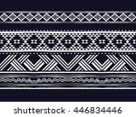 oriental ethnic pattern... | Shutterstock .eps vector #446834446