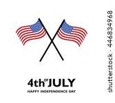Usa Flag Vector Image. Happy...