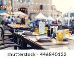 reservations have dinner hi key ... | Shutterstock . vector #446840122