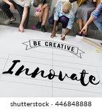 innovate aspiration development ... | Shutterstock . vector #446848888