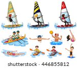 set of water sports illustration | Shutterstock .eps vector #446855812