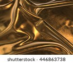 3d Render Of Gold Cloth...