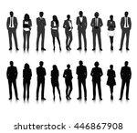 vector ui illustration business ... | Shutterstock .eps vector #446867908