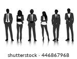 vector ui illustration business ... | Shutterstock .eps vector #446867968