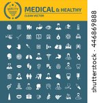 medical icon healthy care icon... | Shutterstock .eps vector #446869888
