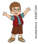 cartoon vector illustration boy ... | Shutterstock .eps vector #44687164