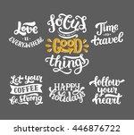 photo overlays  hand drawn... | Shutterstock . vector #446876722