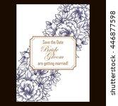 vintage delicate invitation... | Shutterstock . vector #446877598