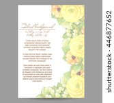 vintage delicate invitation... | Shutterstock . vector #446877652