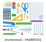 stationery elements set.... | Shutterstock .eps vector #446885332