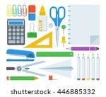 stationery elements set....   Shutterstock .eps vector #446885332