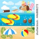 set of summer travel banners... | Shutterstock .eps vector #446888272