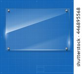 vector glass frame with steel...   Shutterstock .eps vector #446895568