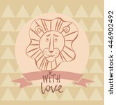 with love hand drawn card... | Shutterstock .eps vector #446902492