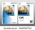 blue annual report brochure... | Shutterstock .eps vector #446904742