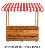 Wooden Market Stand Stall With...