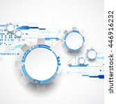 abstract technological... | Shutterstock .eps vector #446916232