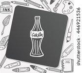 doodle cola   Shutterstock .eps vector #446921536