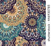 vector seamless pattern with... | Shutterstock .eps vector #446930785