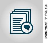 vector illustration of files... | Shutterstock .eps vector #446933518