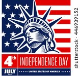 fourth of july independence day ... | Shutterstock .eps vector #446939152