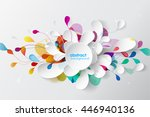 abstract background with paper...