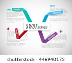 swot    strengths weaknesses... | Shutterstock .eps vector #446940172