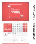 wall calendar planner print... | Shutterstock .eps vector #446946622