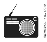 black and white old stereo... | Shutterstock .eps vector #446947822