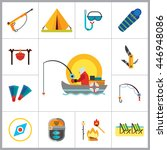 fishing icon set | Shutterstock .eps vector #446948086