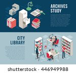 city university studies library ... | Shutterstock .eps vector #446949988