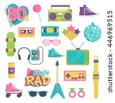 collection of vintage retro... | Shutterstock .eps vector #446969515
