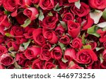 Stock photo red roses petals background 446973256