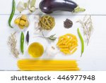 italian food ingredients on... | Shutterstock . vector #446977948