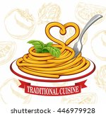 pasta  | Shutterstock .eps vector #446979928