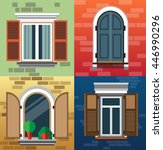a set of classic windows for... | Shutterstock .eps vector #446990296
