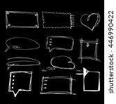 hand drawn chalkboard doodles ... | Shutterstock .eps vector #446990422