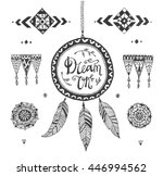 vector hand drawn tribal... | Shutterstock .eps vector #446994562