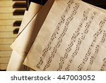 Musical Notes On Piano Keyboar...